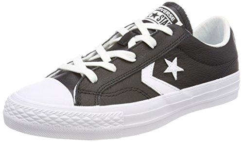 Converse Unisex-Erwachsene Star Player OX Black White Fitnessschuhe, Schwarz (Black/White/White 083), 46 EU