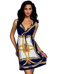 Amour - Damen Strandkleid / Sommerkleid / Kleid / Tunika Einheitsgröße (2XL, X4193y)