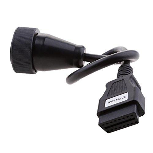 ds150 delphi MagiDeal 37-polig auf 16-polig OBD2 Steckverbinder Adapterkabel für Delphi DS150 Autocom VCI Diagnosewerkzeug Länge: Ca. 40cm