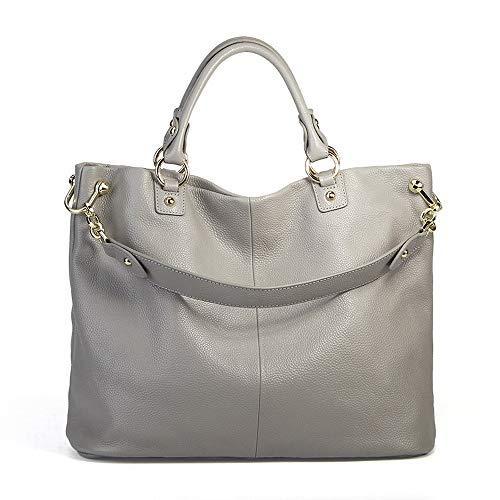 Womens Ladies Soft Leather Top Griff Handtaschen Schulter Crossbody-Tasche kann ein A4-Magazin mit abnehmbaren verstellbaren Riemen für die Arbeit aus täglichen Frauen Casual Handtasche halten Schulte