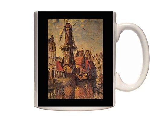 Mug 0384 402080 Gooyer Windmill Amsterdam Claude Monet Ceramic Cup Gift Box