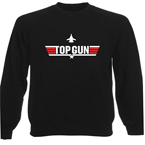 Art T-shirt, Felpa Raglan Top Gun, Uomo, Nero, L