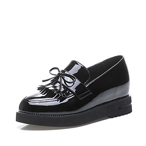 LvYuan Damenschuhe / Preppy Style / Quasten Dunk / Low Chunky Ferse / Comfort / Round Toe / Closed Toe / Oxfords / Outdoor / Casual Black
