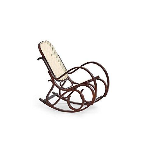Schaukelstuhl Hartholz (JUSTyou Max Bis Sessel Schaukelstuhl Relaxsessel (HxBxT): 95x52x90 cm Farbe: Nussbaum)