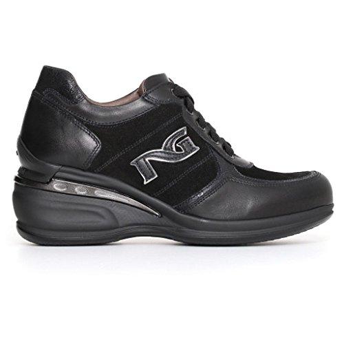 Nero Giardini Donna Sneakers Nere o Grigio (Piombo) A719210D Scarpe in Pelle Inverno 2018 Nero
