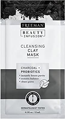 Beauty Infusion Cleansing Charcoal and Probiotics Clay Mask Sachet from Freeman Beauty