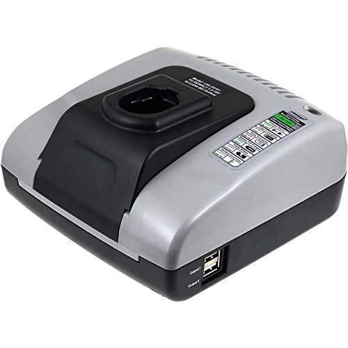 akku-net Akku-Ladegerät mit USB für Werkzeug Black & Decker Akkutyp Firestorm A9282, 7,2V-18V