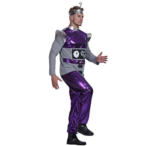 EraSpooky Herren Roboter Kostüm