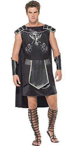Herren DARK Gladiator Roman griechischen Warrior Soldier Hirsch Do Fancy Kleid Kostüm Outfit (Outfit Soldier Roman)