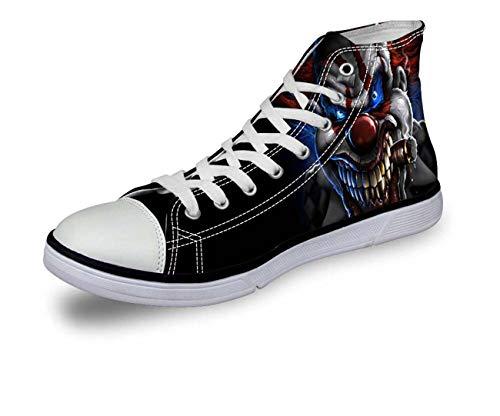 Cool Skull Hi Top Women Men Canvas Trainers Shoes Flat Plimsolls Couple Shoes C3974AK. UK 5\u002FEU38 Dolce & Gabbana Print-heels