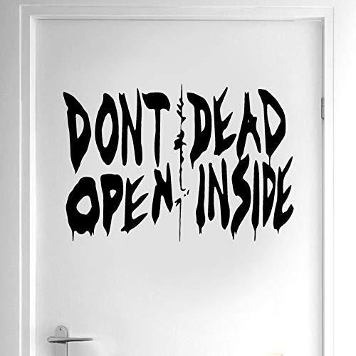 JXNY The Walking Dead Kunst Wandtattoo Vinyl Wohnkultur Tür Nicht öffnen Dead Inside Zitat Abnehmbare Innen Tapete 42x29 cm (The Walking Dead-möbel)