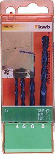 KWB, Set di punte da trapano per grès porcellanato, 4 pz., 0513-00