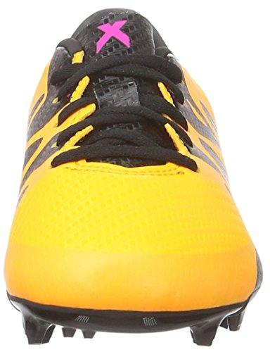 adidas X 15.3 Fg/Ag J, Chaussures de Foot Mixte Bébé Naranja / Negro / Rosa (Dorsol / Negbas / Rosimp)
