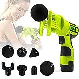 Massage Gun - Masseur chiropratique avec 7 Types de têtes - Masseur de scie sauteuse Trigger Point - Portable, Rechargeable,...