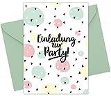 """8er Set (inkl. Umschläge): Einladungskarten """"Konfetti"""" für den Kindergeburtstag oder anderen..."""