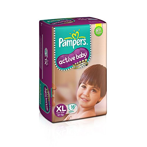 Pampers Active Baby Extra Large Size Diapers (16 Count)