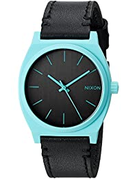 Nixon Women's 'Time Teller' Quartz Stainless Steel and Leather Casual Watch, Color: Black (Model: A0452620-00)