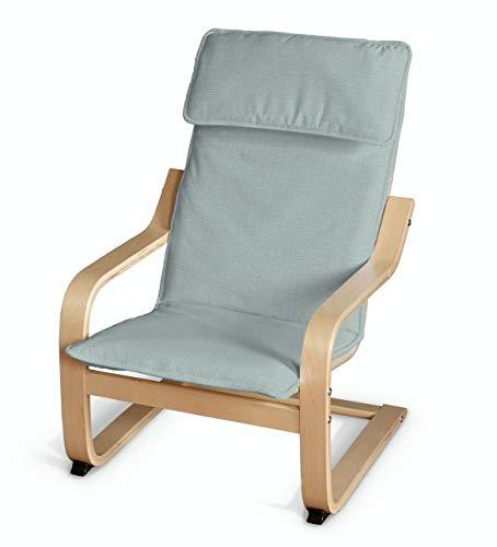 Dekoria Poäng Kissen für den Kindersessel Sesselhusse passend für IKEA Modell Klappsta Pastel-Mint