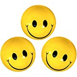 Smiley Face Stress Reliever Squeeze Balls (Set Of 3) By Seller Bay | Yellow Foam Smiley Face Balls