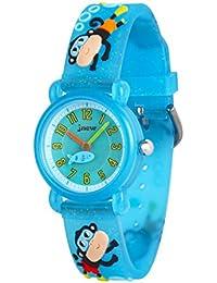 Wolfteeth Little Girls Analog Wrist Watch, Water Resistant School Day Christmmas Gift Sport Watch, Unique Transparency 3084
