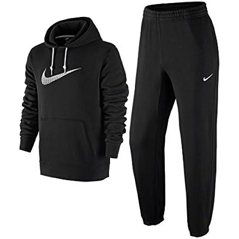 Nike Tuta Cotone Felpato Club Swoosh Colore Nero TG M