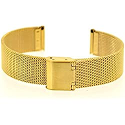 14mm Eichmüller E29Milanese Bracelet with Stainless Steel Clasp-TNG/PVD Gold Plated