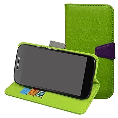MOTO G4 Play Hülle,Mama Mouth Brieftasche Schutzhülle Case Hülle mit Kartenfächer und Standfunktion für Motorola MOTO G4 Play Smartphone