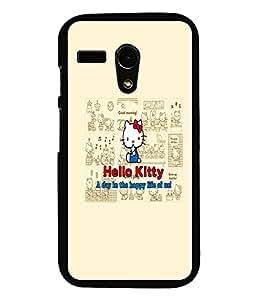 PrintDhaba Hello Kitty D-5516 Back Case Cover for MOTOROLA MOTO G (Multi-Coloured)