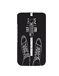 Citydreamz Peace And Freedom\Quotes Hard Polycarbonate Designer Back Case Cover For Motorola Moto G T/ Moto G Turbo Edition