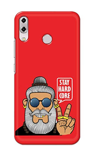 NH10 DESIGNS Hard Designer Printed Stay Hard core Funny Inspiring Quotes Back Cover/case for Asus Zenfone 5