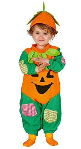 Guirca Rudy Traje de Calabaza bebé 6/12Meses, Color Verde y Naranja, 83025