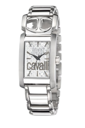 Just Cavalli Pretty R7253152502 - Reloj analógico de Cuarzo para Mujer, Correa de Acero Inoxidable Color Plateado