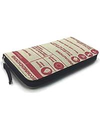 9b4a9a15f8dcc SANGKHUM Damen Geldbörse  Red Diamond Zipper  - Fairtrade Upcycling  Zementsack-Portmonee aus Kambodscha
