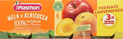 Plasmon omogeneizzato di frutta, mela e albicocca - 24 vasetti da 80 gr