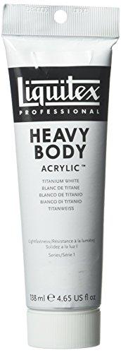 Liquitex Professional Heavy Body Acrylfarbe, Acryl in Künstlerqualität, 200ml Tube - Titanweiß (Weiß Metallic-spray-farbe)