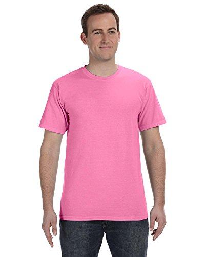 Gelber Fu§ball auf American Apparel Fine Jersey Shirt Flamingo