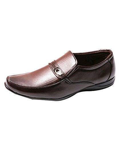 Shoe Day Men's Faux Leather BROWN Formal Shoes 10 UK