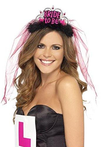 LAAT Braut Crown Night Party Braut Tiara Stirnband Night Bachelorette Party Zubehör Bachelorette Party Favors für Mädchen (3)