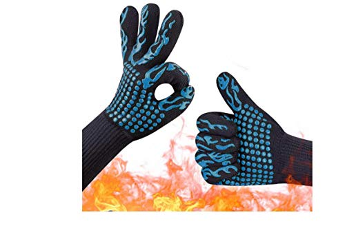 TX® 1 Pair Heat Resistant Thick Silicone Cooking Baking Barbecue Oven Gloves BBQ Grill Mittens Dish Washing Gloves Kitchen (color7)