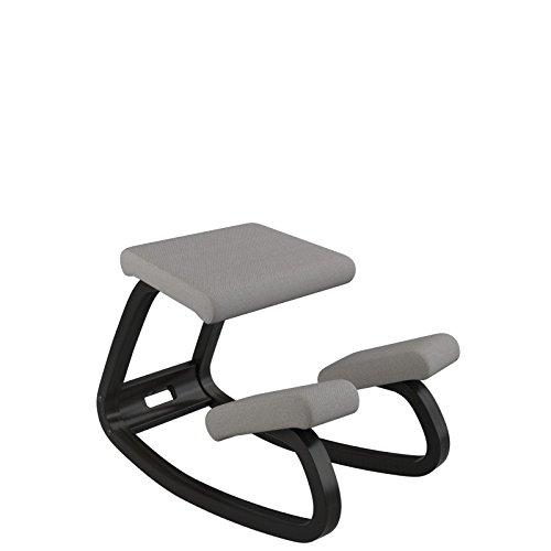 Varier Variable Ergonomischer Sitz, Holz, 72x 52x 51cm 72x52x51 cm dunkelgrau