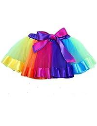 Free Fisher Niñas Vestido de hada Niñas arco iris capas Tutú Ropa de Baile Fiesta, 8 años(tamaño fabricante: L)