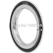 Bioings (TM)-Supporto in metallo per lenti-Anello adattatore da obiettivo Nikon AI a Canon EOS EF Body 7D, 50D, 60D, 600D, 550D, SZ