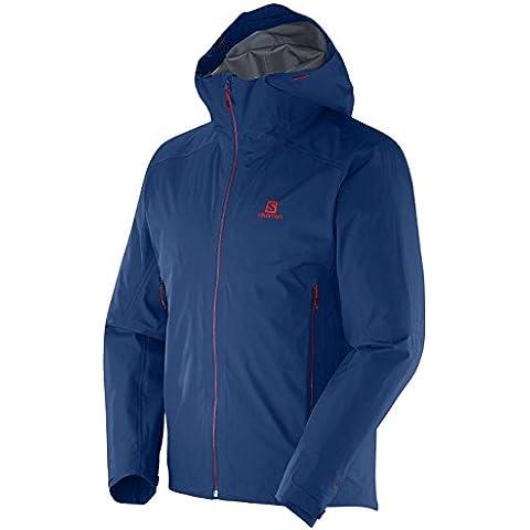 Los hombres chaqueta de snowboard Salomon Minim Jam Jacket, color Azul - azul, tamaño M