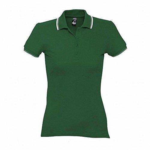 SOLS Practice - Polo 100% coton à manches courtes - Femme Bleu marine/Blanc