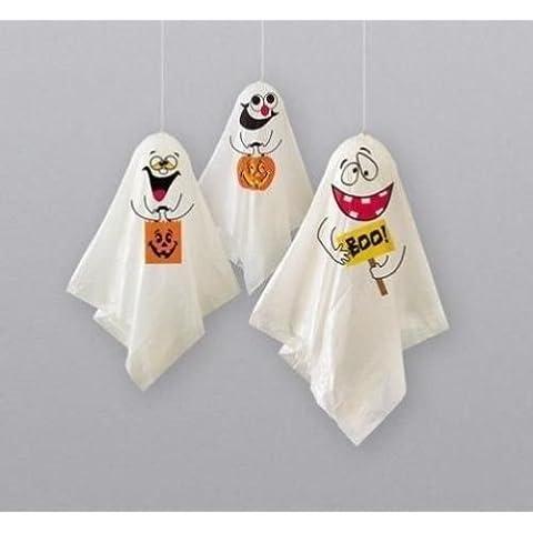 Halloween Colgante Fantasma Decoración x 3