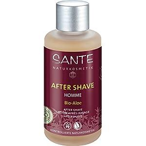 SANTE Naturkosmetik Homme After Shave Bio-Aloe für Männer, Beruhigt irritierte Haut, Herb-frischer Duft, Vegan, 100ml