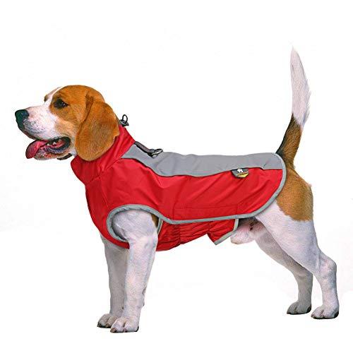 EBONP QXILU Hundemantel aus Winter Hund Haustier Kleidung wasserdicht Hund Jacke Mantel große Hunde Haustiere Kleidung Kostüm für mittelgroße Hunde Bulldogge-XL Chest 46cm Back 31cm