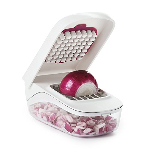 416iOp Hv7L. SS500  - OXO Good Grips Vegetable Chopper with Easy-Pour Opening, White, 10.7 x 26.2 x 16.5 cm