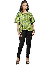 Gugg Women's Self Design TOP [GS16A05_GREEN]