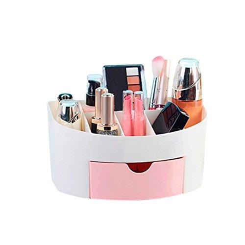 Mamum Boîte de rangement pour cosmétique, maquillage, pinceau - Pour femme, Plastique ABS, rose, Taille unique